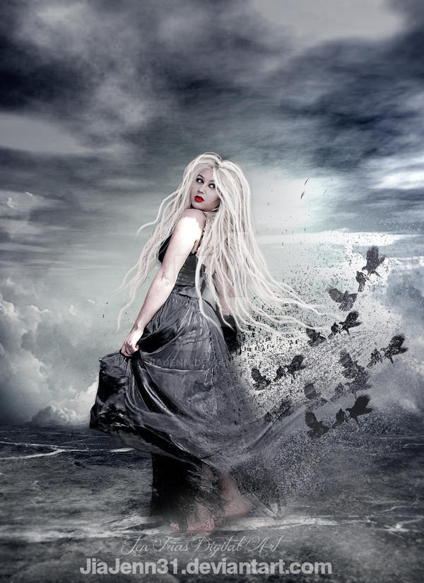 Witch in Beach