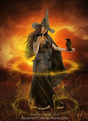 Walking Witch by jiajenn