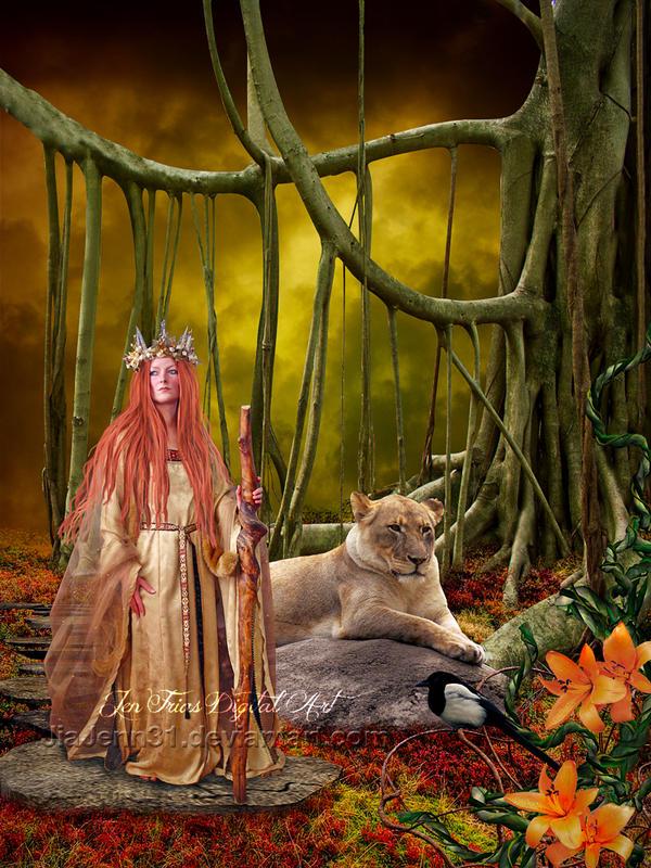 Wooden Gold princess by jiajenn