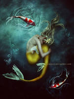 Gold Mermaid by jiajenn