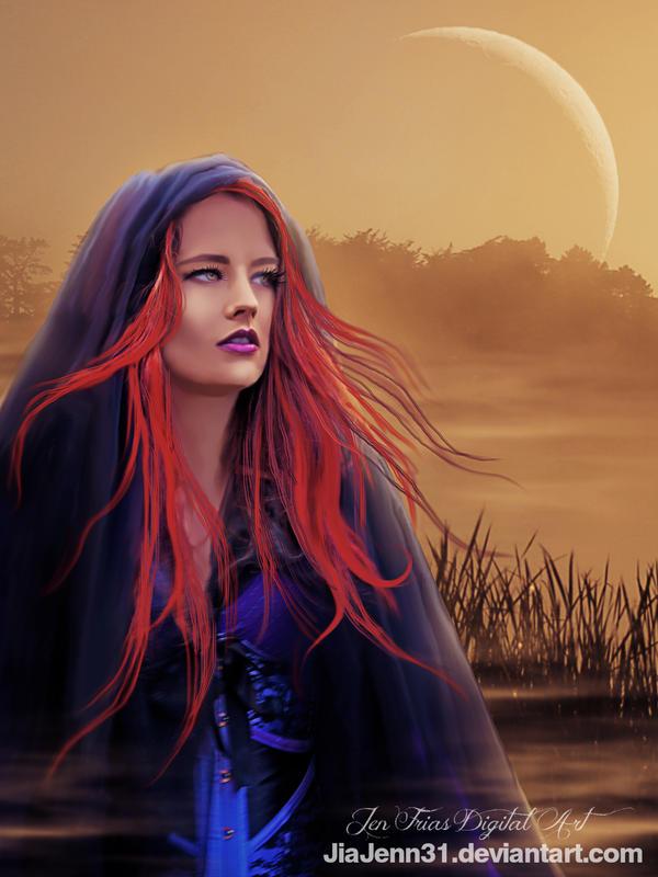 Orange Moon by JiaJenn31