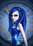 Blue Doll face