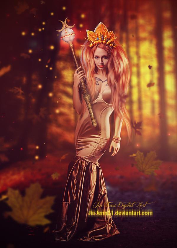Golden Autumn queen by jiajenn