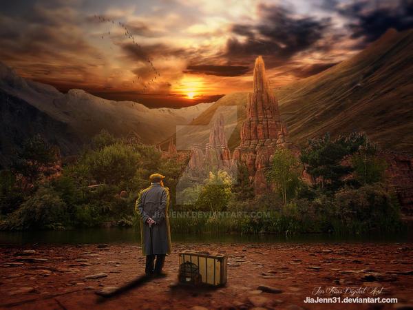 Journey to orange sunset by jiajenn