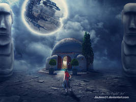Traveller in space by jiajenn