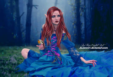 Into the blue, Queen Fairy by jiajenn