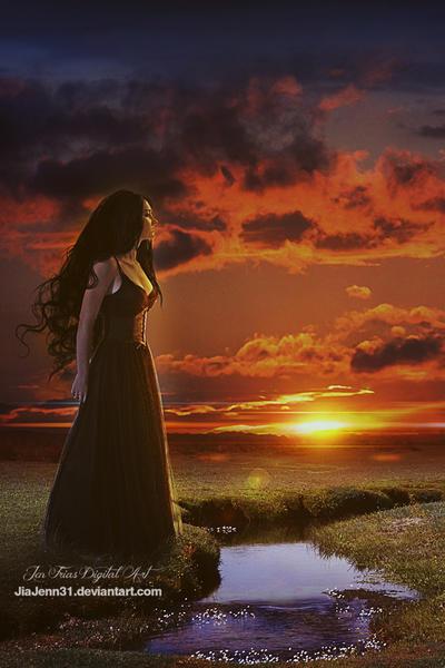 Away to red sunset by jiajenn