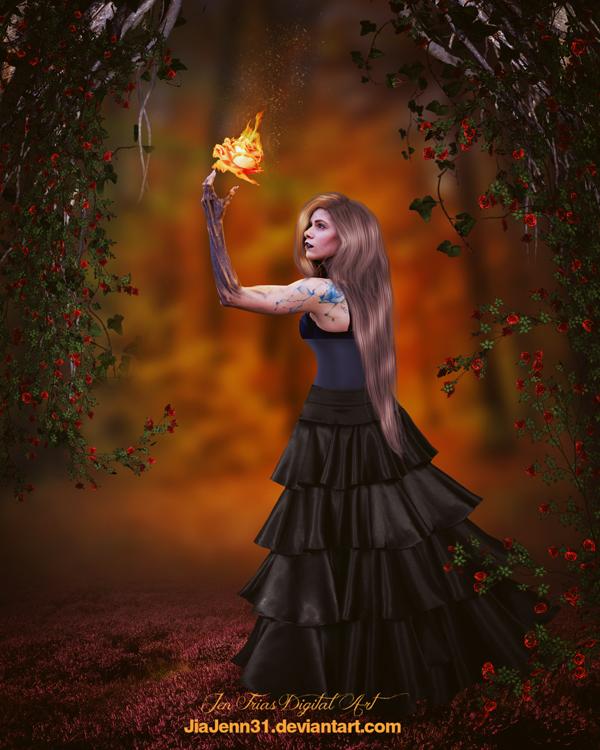 Fire Rose by jiajenn