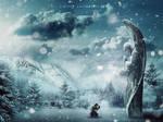 Winter Angel Scene