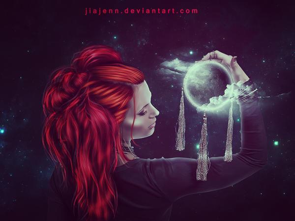 Dreamcatcher Moon by jiajenn
