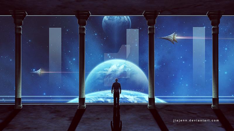 Sci Fi Window by jiajenn