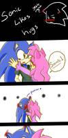 Sonic Likes Hugs