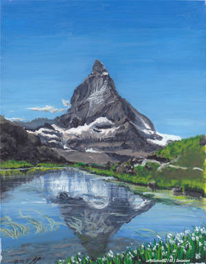 The Swiss lonely mountain, La montagne Solitaire by LePtitSuisse1912