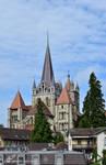 Cathedrale Notre Dame de Lausanne vue arriere