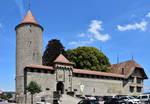 Devant le Chateau de Romont