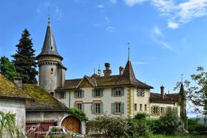 Chateau de Cormondreche,Vue de l'Ouest by LePtitSuisse1912