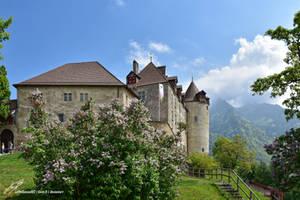 Devant le Chateau de Gruyeres by LePtitSuisse1912