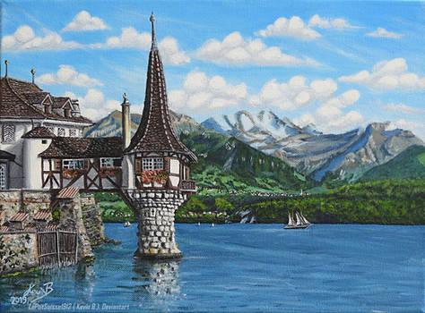 La Tourelle du Lac d'Oberhofen Sur la Toile