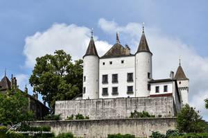 Chateau de Nyon Facade sud by LePtitSuisse1912