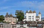 Le Manoir et le Chateau de Nyon depuis le Lac 2 by LePtitSuisse1912