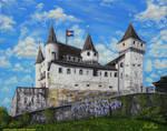 Chateau de Nyon sur la Toile by LePtitSuisse1912