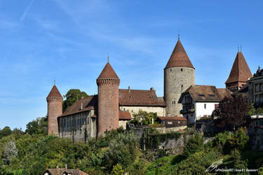 Chateau de Chenaux pris depuis la place de Moudon by LePtitSuisse1912