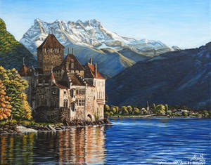 Chateau de Chillon sur la Toile