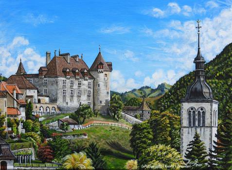 Chateau de Gruyeres sur la Toile