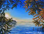 Coucher de Soleil sur le Lac Leman by LePtitSuisse1912