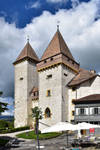 les Deux Tours du Chateau de la Sarraz by LePtitSuisse1912