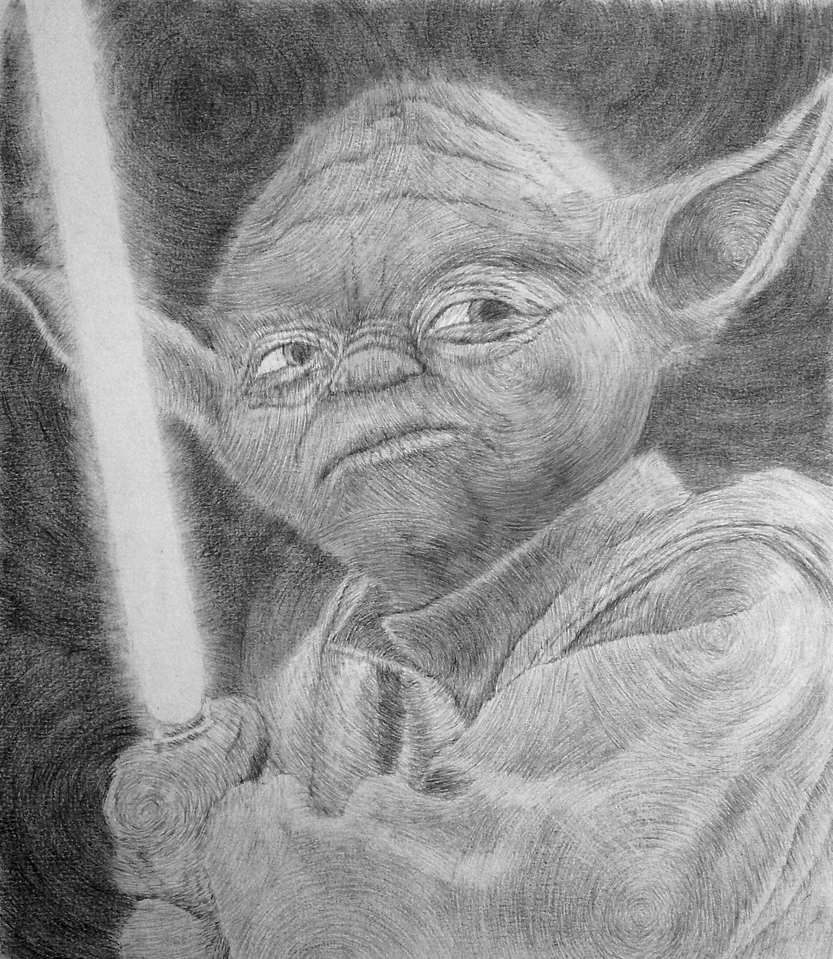 Master Yoda - Spirals by Pandaforge