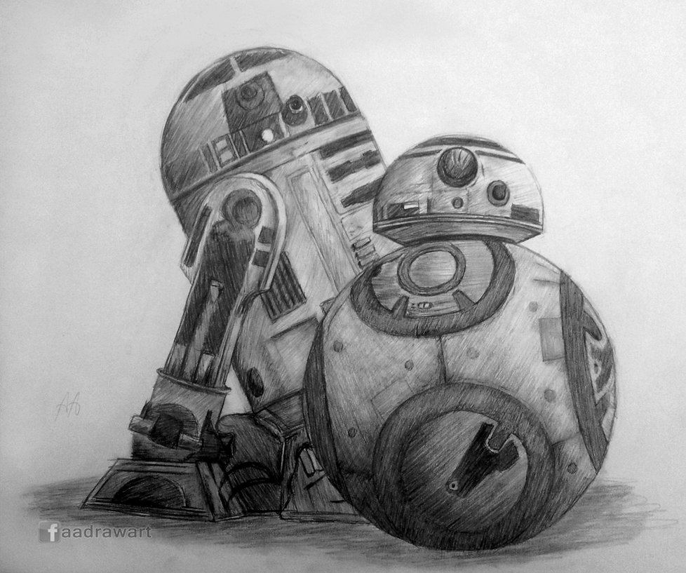 R2-D2 and BB-8 by Pandaforge