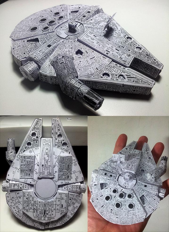 Millennium Falcon [papercraft] by Pandaforge
