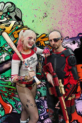 Infamous Harley Quinn and Almost Cool Cosplay by callianis