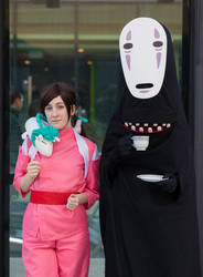 No Face and Chihiro (with Haku)
