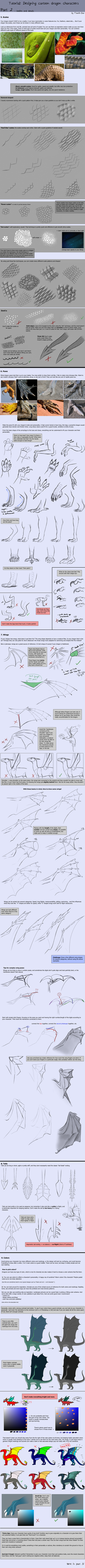 Tutorial: Dragon Designing Tips - part 2/3 by SeaSaltShrimp