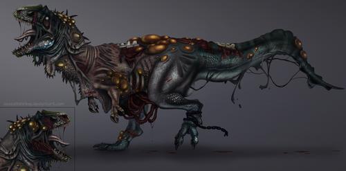 Dermatotum Giganotosaurus by SeaSaltShrimp