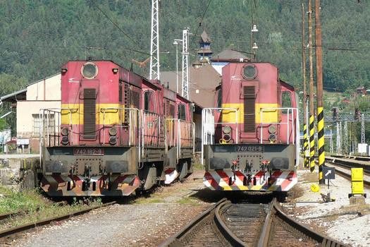 ZSSK Cargo 742 182-9 + 742 386-6 + 742 021-9