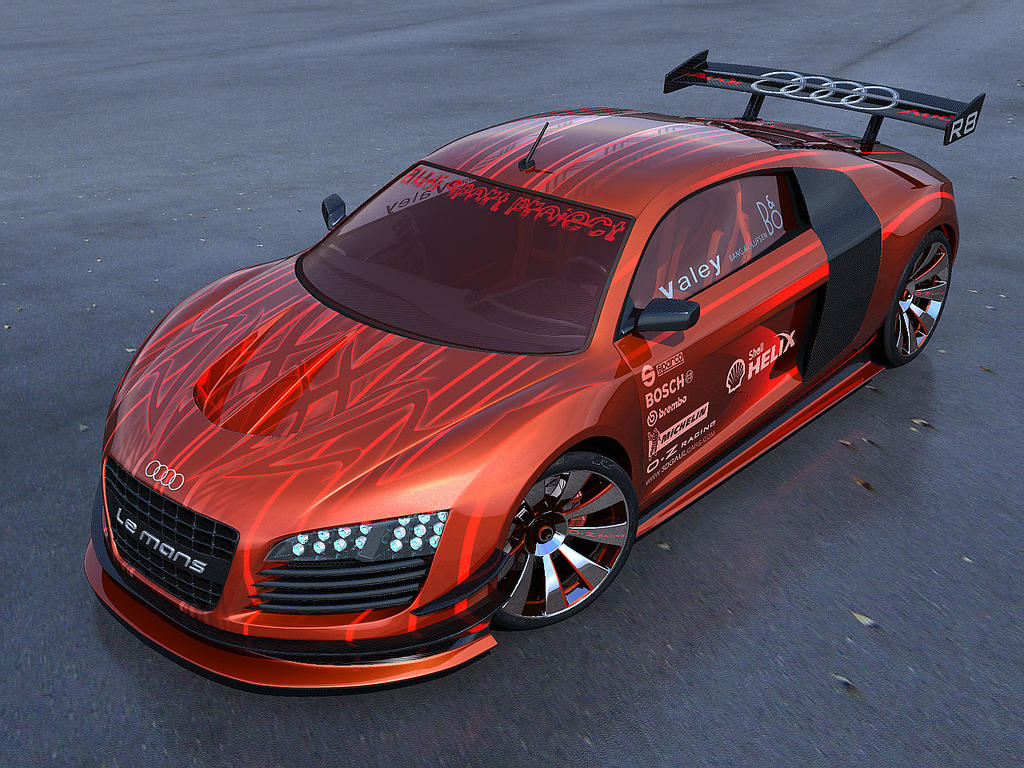 Audi R8 Orange By Masvaley On Deviantart