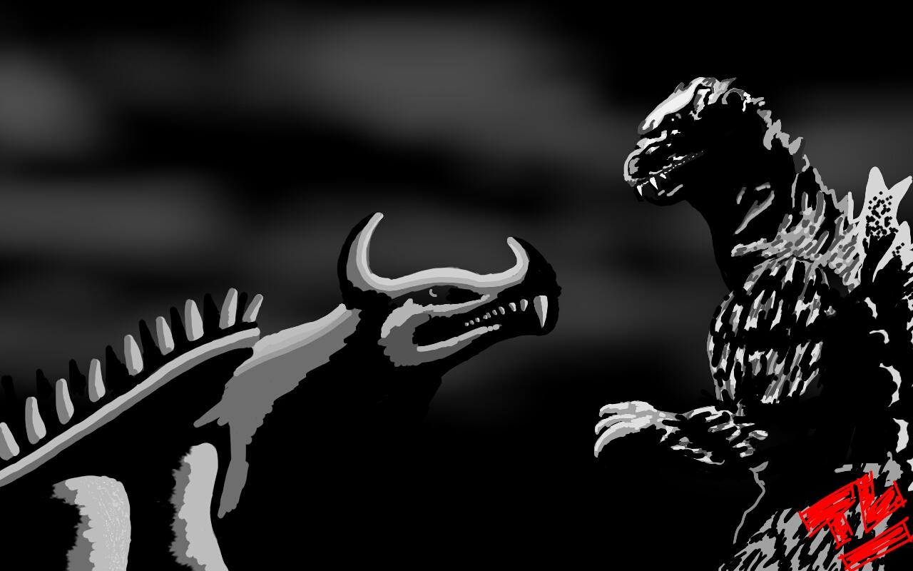 Dibujos Godzilla Raids Again 1955 Para Colorear