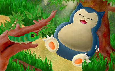 Snorlax resting peacefully by mirrorrrrr