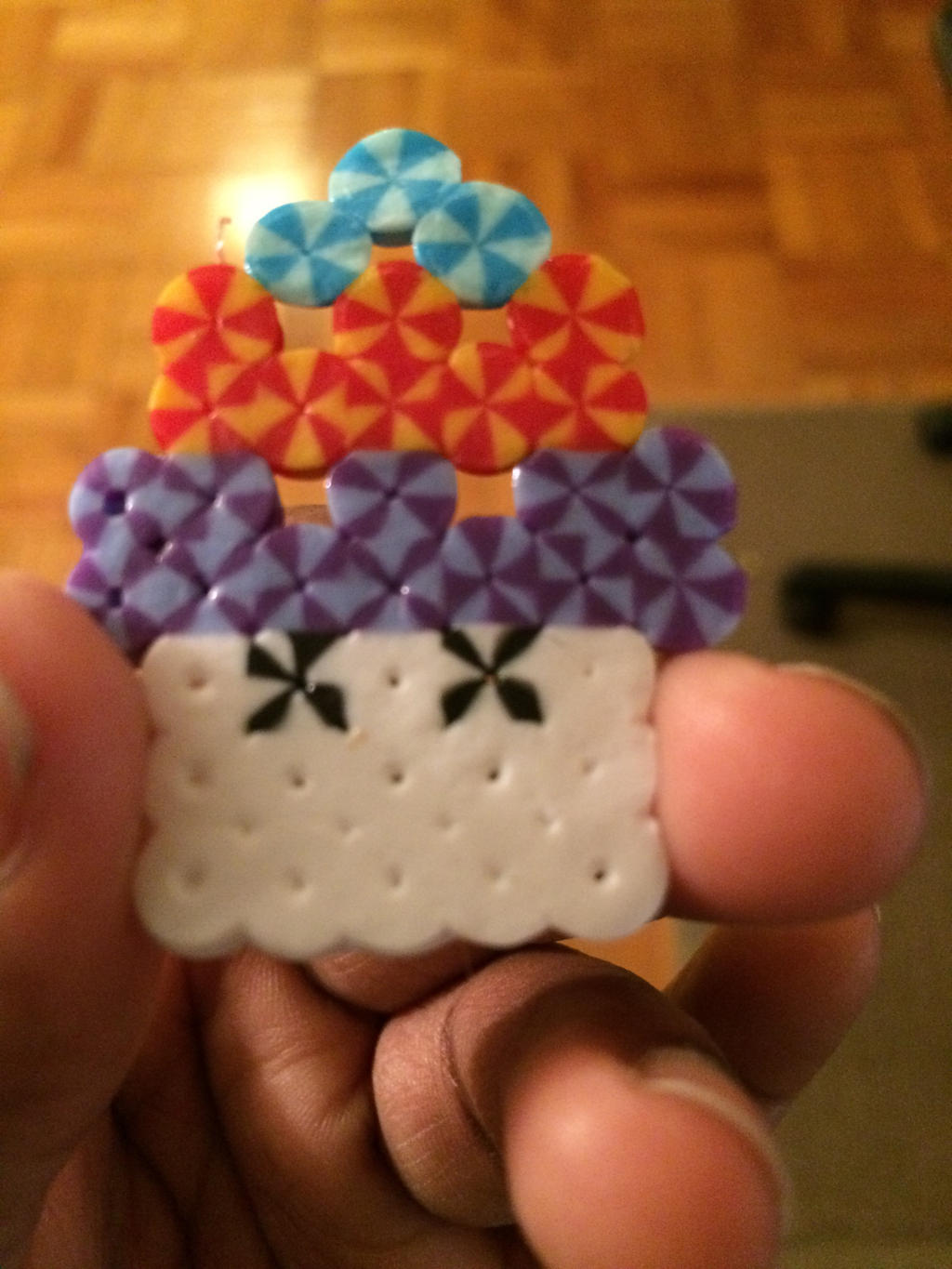 how to make a cupcake with perler beads