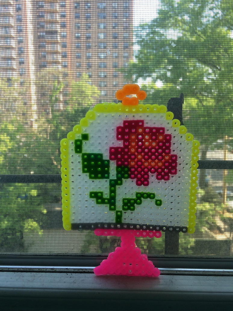 Perler rose under glass by wolfyloveanime on deviantart for Rose under glass