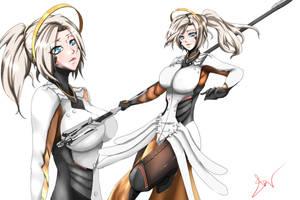 Mercy Overwatch by shinian69