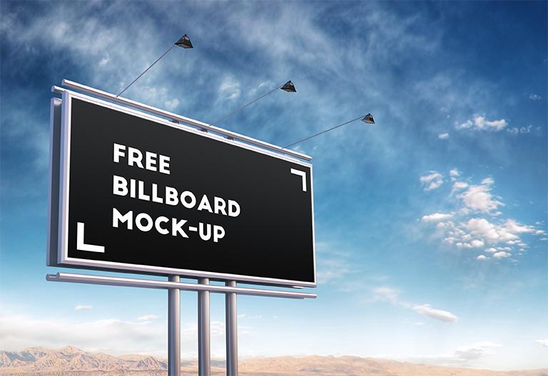 FREE PSD BILLBOARD MOCKUP by Kheathrow
