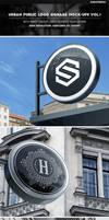 Urban Public Logo Signage Mock-Ups Vol.1 by Kheathrow