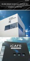 3D Logo Signage Facade Wall Mock-Ups by Kheathrow