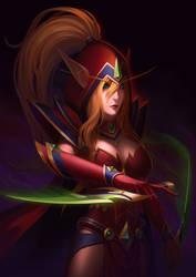 World of Warcraft Fan Art - Valeera by LHCC