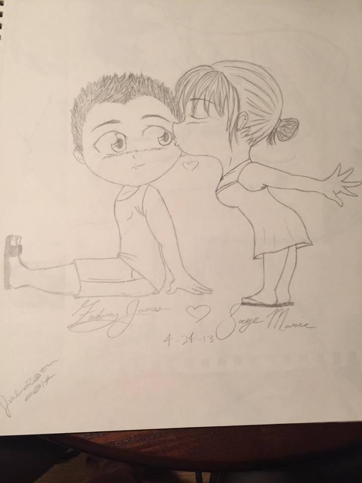 Chibi doodle by madam3gr33n