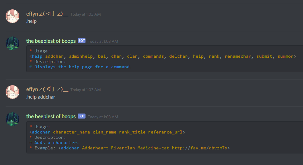 Discord Bots for Roleplay Groups by effyn on DeviantArt